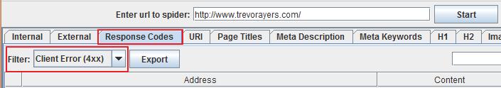 Scan Site for Broken Links
