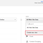 Create new view Google Analytics