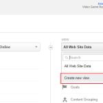 Create new view Google Analytics