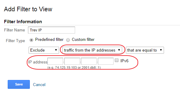 Analytics IP Filter