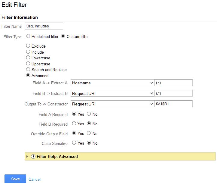 Show Domain Filter