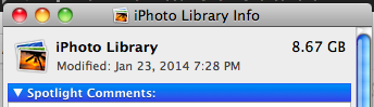 iPhoto Library Migration