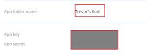 Dropbox Kodi Backup