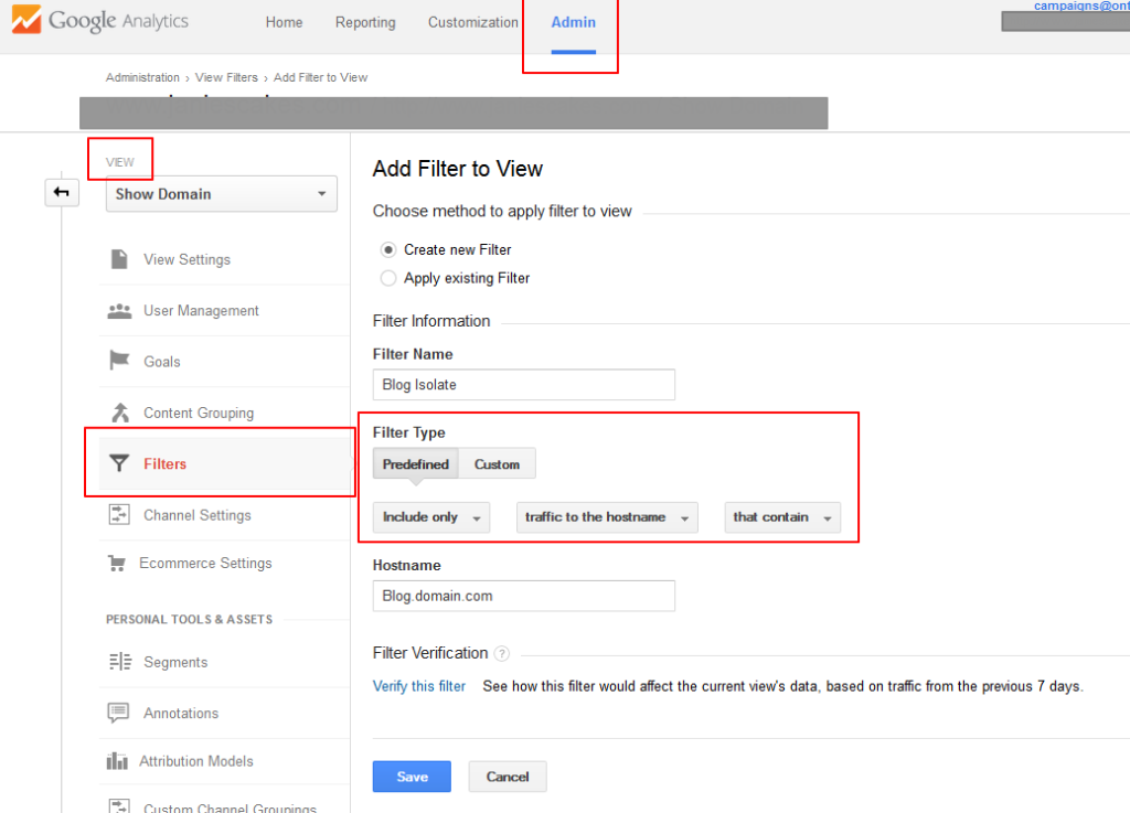 Adjust Filters Analytics
