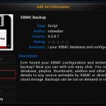 Install XBMC Backup Addon