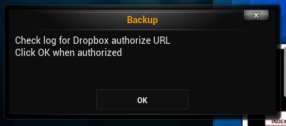Backup Kodi with Dropbox