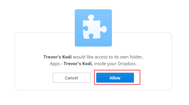 Kodi Backup with Dropbox