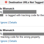 Tracking Code Mismatch Google Analytics Alert