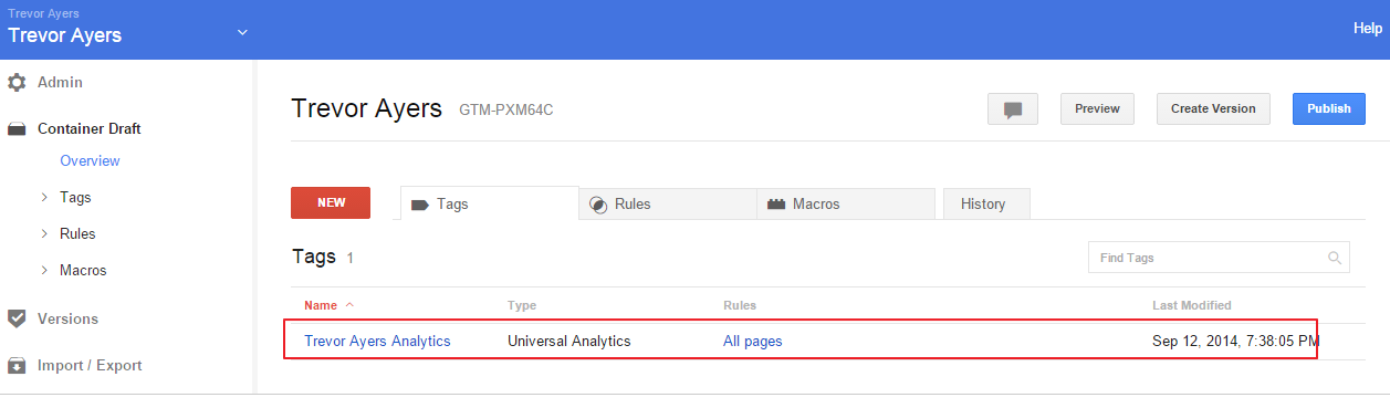 Google Tag Manager Analytics Tag