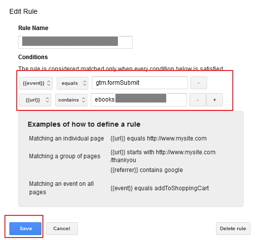 Submit Rule for Form Submissions in Google Tag Manager