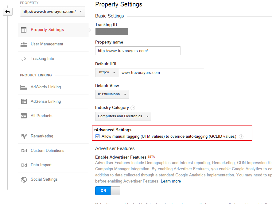 Override Google AdWords Auto Tagging With Manual Tags