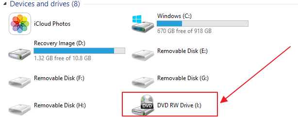 Optical Drive Not Showing as Drive in My Computer Windows