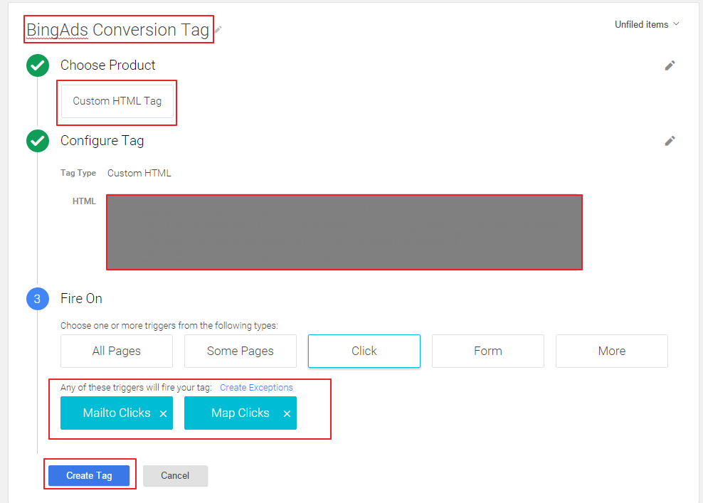 Bing Ads Conversions Tracked in Google Tag Manager