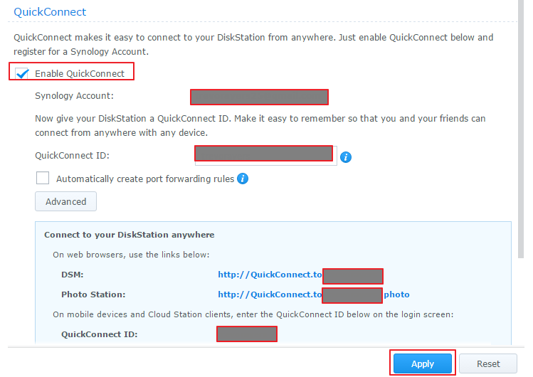 Create Public Link on Synology NAS