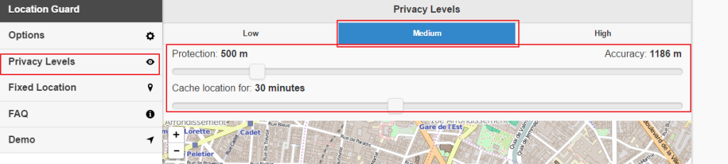 Hide online location